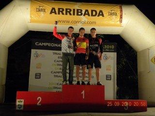 Podio del Campeonato de España de Trial en Bici